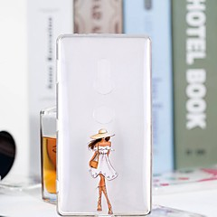 Недорогие Чехлы и кейсы для Sony-Кейс для Назначение Sony Xperia XZ2 Compact / Xperia XZ2 Прозрачный / С узором Кейс на заднюю панель Соблазнительная девушка Мягкий ТПУ для Xperia XZ2 Compact / Xperia XZ2 / Xperia XZ1 Compact