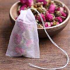 ราคาถูก ชุดชา กาแฟและภาชนะดื่ม-ถุงชาที่ไม่มีน้ำหอมที่มีสายเย็บรักษากระดาษกรองซีเมนต์สำหรับสมุนไพร Bolsas ชาหลวม