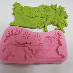 お買い得  ベイキング用品&ガジェット-ベークツール シリカゲル クリスマス ケーキ ケーキ型 1個