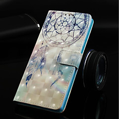 Недорогие Чехлы и кейсы для Nokia-Кейс для Назначение Nokia Nokia 5.1 / Nokia 3.1 Кошелек / Бумажник для карт / со стендом Чехол Ловец снов Твердый Кожа PU для Nokia 5.1 / Nokia 3.1 / Nokia 2.1