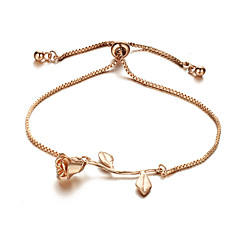 preiswerte Armbänder-Damen Stilvoll Armband - Flower Shape Süß, nette Art Armbänder Gold / Silber / Rotgold Für Geschenk / Verabredung