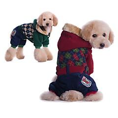 お買い得  犬用ウェア&アクセサリー-犬用 / 猫用 コート 犬用ウェア 幾何学模様 レッド / グリーン コットン コスチューム ペット用 男女兼用 スポーツ&アウトドア / カジュアル/普段着