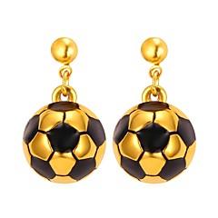 preiswerte Ohrringe-Damen Stilvoll Tropfen-Ohrringe - Edelstahl Beiläufig / sportlich, Modisch Gold / Silber Für Geschenk Alltag