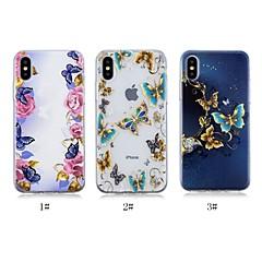 Недорогие Кейсы для iPhone 7 Plus-Кейс для Назначение Apple iPhone X / iPhone 8 Plus С узором Кейс на заднюю панель Бабочка Мягкий ТПУ для iPhone X / iPhone 8 Pluss / iPhone 8