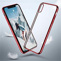 Недорогие Кейсы для iPhone X-Кейс для Назначение Apple iPhone XR / iPhone XS Max Покрытие Кейс на заднюю панель Однотонный Мягкий ТПУ для iPhone XS / iPhone XR / iPhone XS Max