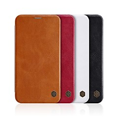 billige iPhone-etuier-Etui Til Apple iPhone XR / iPhone XS Max Kortholder / Flipp Heldekkende etui Ensfarget Hard PU Leather til iPhone XS / iPhone XR / iPhone XS Max