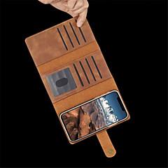 Недорогие Кейсы для iPhone 7 Plus-Кейс для Назначение Apple iPhone XR / iPhone XS Max Бумажник для карт / Защита от удара / Флип Чехол Однотонный Твердый Кожа PU для iPhone XS / iPhone XR / iPhone XS Max