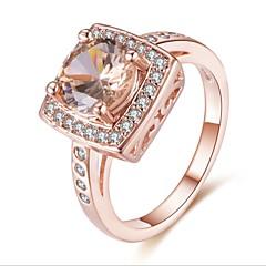 preiswerte Ringe-Damen Kubikzirkonia Stapel Ring - Rose Gold überzogen Luxus, Elegant 6 / 7 / 8 Rotgold Für Geschenk