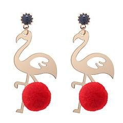 preiswerte Ohrringe-Damen Skulptur Tropfen-Ohrringe - Kugel, Flamingo Europäisch, Modisch, nette Art Rose / Rot / Grün Für Normal