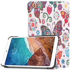 abordables Carcasas / Fundas para Xiaomi-Funda Para Xiaomi Xiaomi Tab 4 con Soporte / Flip / Diseños Funda de Cuerpo Entero Mariposa Dura ordenador personal para Xiaomi Tab 4