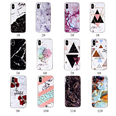 Недорогие Кейсы для iPhone 7-Кейс для Назначение Apple iPhone X / iPhone 8 IMD / С узором Кейс на заднюю панель Мрамор Мягкий ТПУ для iPhone X / iPhone 8 Pluss / iPhone 8