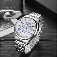 preiswerte Herrenuhren-Herrn Damen Sportuhr Armbanduhr Quartz 30 m Wasserdicht Armbanduhren für den Alltag Großes Ziffernblatt Edelstahl Band Analog Luxus Modisch Silber - Weiß Blau