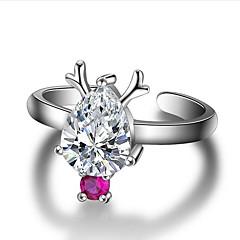 preiswerte Ringe-Damen 3D Öffne den Ring - versilbert Birne Einzigartiges Design, Modisch Verstellbar Silber Für Weihnachten Halloween