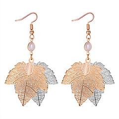 preiswerte Ohrringe-Damen Hohl Tropfen-Ohrringe - Blattform Einfach, Klassisch, Europäisch Gold Für Alltag