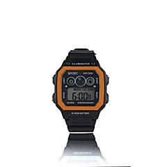preiswerte Armbanduhren für Paare-Herrn Paar Sportuhr digital 30 m Wasserdicht Kalender Nachts leuchtend PU Band digital Freizeit Modisch Schwarz - Gelb Grün Hellblau