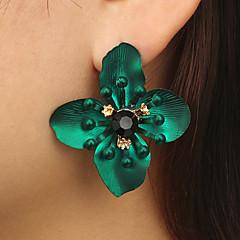 preiswerte Ohrringe-Damen Kubikzirkonia Retro Kreolen - Diamantimitate Flower Shape Luxus, Hyperbel Gelb / Rot / Grün Für Geschenk Festtage