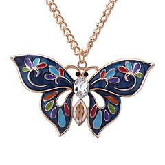 preiswerte Halsketten-Damen Stilvoll / Lang Anhängerketten - Schmetterling Europäisch, nette Art, Mehrfarbig Gelb, Rose Rot, Dunkelgrün 60 cm Modische Halsketten Schmuck 1pc Für Normal, Alltag