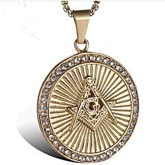 Недорогие Ожерелья-Муж. Цирконий Стильные Ожерелья с подвесками - Титановая сталь Креатив Мода Cool Золотой 60 cm Ожерелье Бижутерия 1 комплект Назначение Для вечеринок, Повседневные