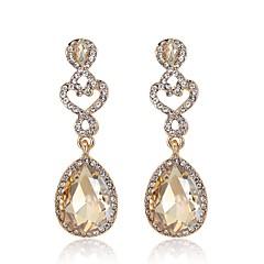 preiswerte Ohrringe-Damen Quaste / 3D Tropfen-Ohrringe - Strass, vergoldet Birne Einfach, Klassisch, Modisch Silber / Blau / Champagner Für Alltag / Strasse