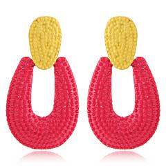 preiswerte Ohrringe-Damen Stilvoll / Geometrisch Tropfen-Ohrringe - Tropfen Einfach, Europäisch, Mehrfarbig Rose / Rot / Rosa Für Normal / Strasse
