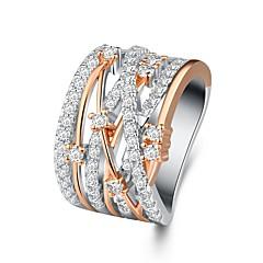 preiswerte Ringe-Damen Übergang Ring - Rose Gold überzogen, Diamantimitate Gypsophila Einzigartiges Design, Modisch, Elegant 6 / 7 / 8 / 9 / 10 Rotgold Für Party Verabredung
