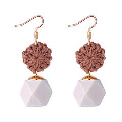 preiswerte Ohrringe-Damen Geflochten Tropfen-Ohrringe - Geometrisch, Retro, Ethnisch Kaffee / Rot / Dunkelgrün Für Festtage Arbeit