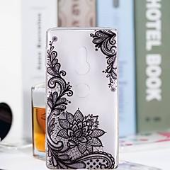 Недорогие Чехлы и кейсы для Sony-Кейс для Назначение Sony Xperia XZ2 Compact / Xperia XZ2 Прозрачный / С узором Кейс на заднюю панель Цветы Мягкий ТПУ для Huawei P20 / Huawei P20 Pro / Huawei P20 lite