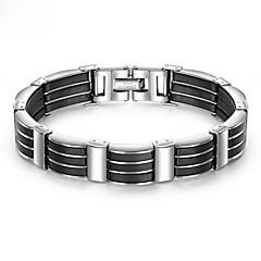 preiswerte Armbänder-Herrn Dicke Kette Armband - Edelstahl, Titanstahl, Platiert Einzigartiges Design, Modisch Armbänder Schwarz Für Strasse