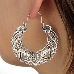 preiswerte Ohrringe-Damen Tropfen-Ohrringe - Totem Serie, Ein Blütenblatt Luxus, Retro, Ethnisch Silber Für Party / Abend Zeremonie