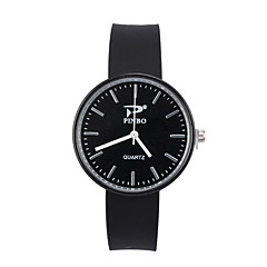 preiswerte Damenuhren-Damen Armbanduhr Quartz Armbanduhren für den Alltag Silikon Band Analog Modisch Minimalistisch Schwarz / Weiß / Blau - Rot Rosa Hellblau