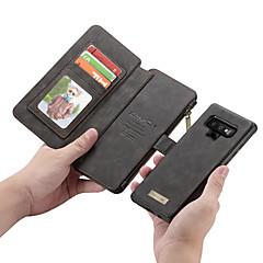 Недорогие Чехлы и кейсы для Galaxy Note 5-CaseMe Кейс для Назначение SSamsung Galaxy Note 9 / Note 8 Кошелек / Бумажник для карт / Флип Чехол Однотонный Твердый Кожа PU для Note 9 / Note 8 / Note 5