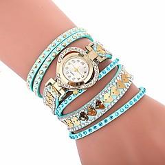 preiswerte Damenuhren-Damen Armband-Uhr Quartz Neues Design Armbanduhren für den Alltag Imitation Diamant PU Band Analog Freizeit Modisch Schwarz / Weiß / Blau - Rot Blau Rosa Ein Jahr Batterielebensdauer