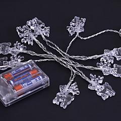 preiswerte LED Lichtstreifen-1.2 Leuchtgirlanden 10 LEDs Warmes Weiß / Weiß / Mehrfarbig Neues Design / bezaubernd / Cool AA-Batterien angetrieben
