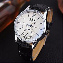 お買い得  大特価腕時計-ASJ 男性用 リストウォッチ 耐水 レザー バンド ハンズ カジュアル ブラウン - ブルー ブラック ブラック / ホワイト 1年間 電池寿命 / SSUO SR626SW
