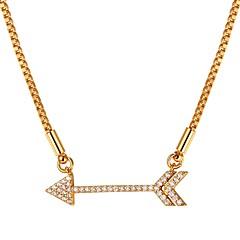 preiswerte Halsketten-Damen Kubikzirkonia Stilvoll Anhängerketten - Modisch Gold, Silber 55 cm Modische Halsketten Schmuck 1pc Für Geschenk, Alltag