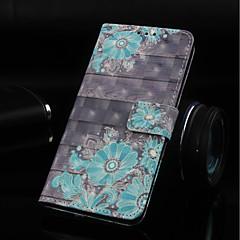 Недорогие Чехлы и кейсы для Nokia-Кейс для Назначение Nokia Nokia 5.1 / Nokia 3.1 Кошелек / Бумажник для карт / со стендом Чехол Цветы Твердый Кожа PU для Nokia 5.1 / Nokia 3.1 / Nokia 2.1