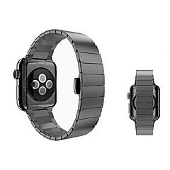 お買い得  腕時計用アクセサリー-ステンレス 時計バンド ストラップ のために Apple Watch Series 3 / 2 / 1 ブラック / シルバー / ゴールド 23センチメートル / 9インチ 2.1cm / 0.83 Inch