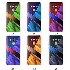 Недорогие Чехлы и кейсы для Huawei Mate-Кейс для Назначение Huawei Mate 10 pro / Mate 10 lite С узором Кейс на заднюю панель Мрамор Мягкий ТПУ для Mate 10 pro / Mate 10 lite