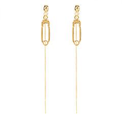 abordables Bijoux pour Femme-Femme Long Boucles d'oreille goutte - Trombone Or Pour Casual Quotidien