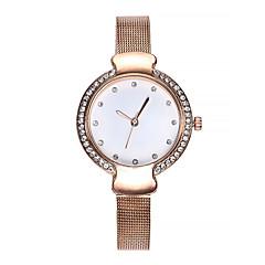 preiswerte Damenuhren-Damen Armbanduhr Quartz 30 m Kreativ Armbanduhren für den Alltag Edelstahl Band Analog Retro Modisch Schwarz / Silber / Rotgold - Schwarz Silber Rotgold