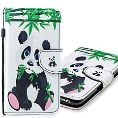 Недорогие Кейсы для iPhone 7 Plus-Кейс для Назначение Apple iPhone XR / iPhone XS Max Кошелек / Бумажник для карт / со стендом Чехол Панда Твердый Кожа PU для iPhone XS / iPhone XR / iPhone XS Max