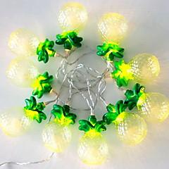 preiswerte LED Lichtstreifen-1m Leuchtgirlanden 10 LEDs Gelb Dekorativ AA-Batterien angetrieben 1 set