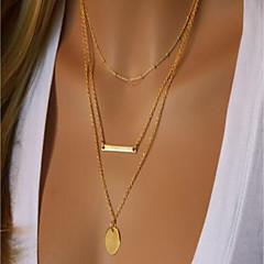 preiswerte Halsketten-Damen Doppellagig Layered Ketten - Einfach, Modisch Niedlich, Cool Gold 40 cm Modische Halsketten Schmuck 1 set Für Party / Abend, Ausgehen