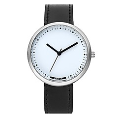 お買い得  レディース腕時計-女性用 リストウォッチ クォーツ カジュアルウォッチ かわいい 大きめ文字盤 PU バンド ハンズ カジュアル ファッション ブラック / ブラウン / 黄色 - イエロー コーヒー Brown 1年間 電池寿命