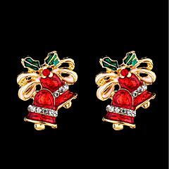 abordables Bijoux pour Femme-Femme Classique Boucles d'oreille goujon - Nœud, Manches Pagode Mode, Le style mignon Rouge Pour Noël Festival