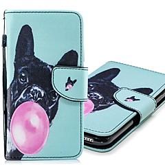 Недорогие Кейсы для iPhone-Кейс для Назначение Apple iPhone XR / iPhone XS Max Кошелек / Бумажник для карт / со стендом Чехол С собакой Твердый Кожа PU для iPhone XS / iPhone XR / iPhone XS Max