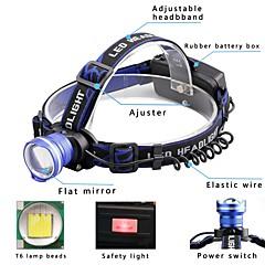 preiswerte Stirnlampen-2000 lm Stirnlampen / Fahrradlicht LED 3 Modus - U'King Zoomable- / Alarm / einstellbarer Fokus