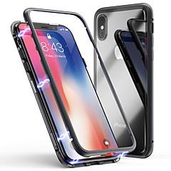 Недорогие Кейсы для iPhone X-Cooho Кейс для Назначение Apple iPhone X / iPhone 7 Plus Защита от удара / Защита от пыли / Прозрачный Кейс на заднюю панель Однотонный Твердый Закаленное стекло / ПК для iPhone X / iPhone 8 Pluss