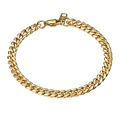 preiswerte Armbänder-Herrn Gliederkette Ketten- & Glieder-Armbänder - Edelstahl Modisch Armbänder Gold / Schwarz / Silber Für Geschenk Alltag
