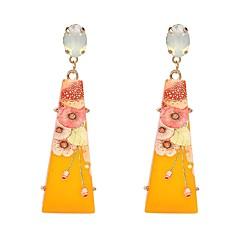 preiswerte Ohrringe-Damen Mehrfarbig Mehrfarbig Lang Tropfen-Ohrringe - Harz Geometrisch, Boho, Volkston Rot / Grün / Blau Für Halloween Zeremonie / 2pcs